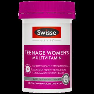Swisse Ultivite Teenage Women's Multivitamin 60 Tablets