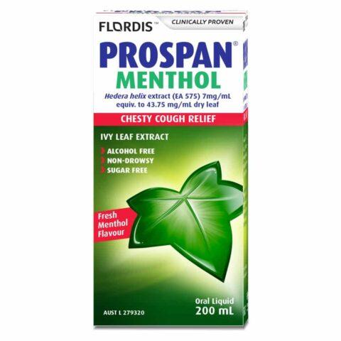 Prospan Chesty Cough Relief 200mL Oral Liquid - Fresh Menthol Flavour