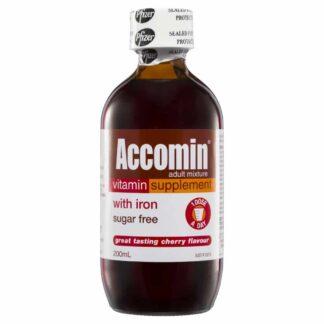 Accomin Adult Mixture 200mL Oral Liquid - Cherry Flavour