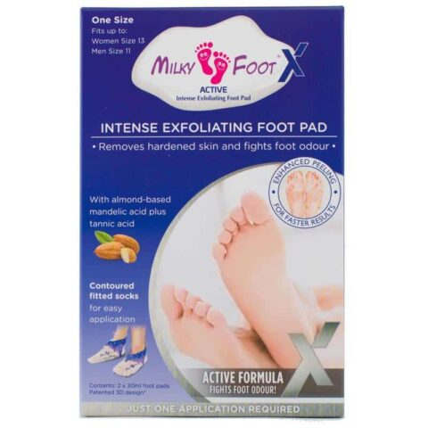 Milky Foot Active X Intense Exfoliating Foot Pad - Large Size