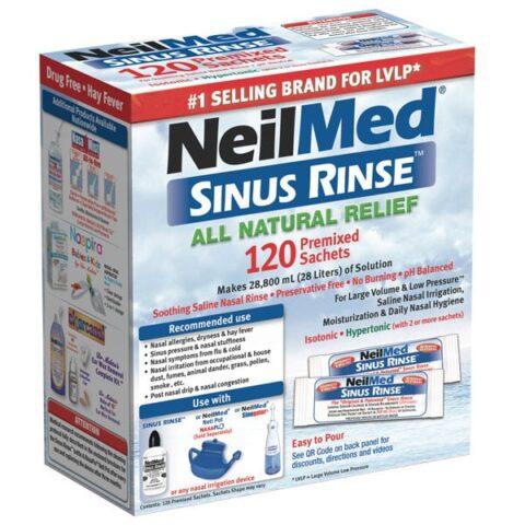 NeilMed Sinus Rinse Refill 120 Premixed Sachets