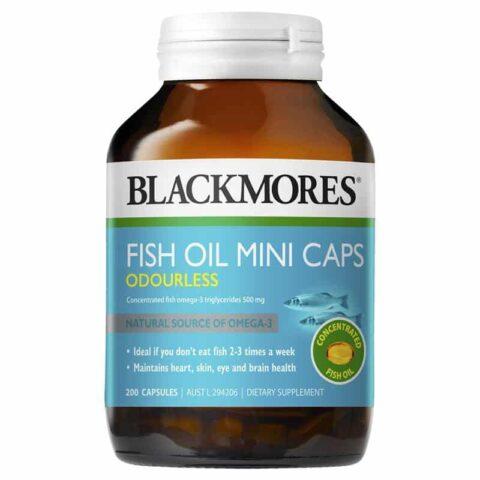 Blackmores Odourless Fish Oil 200 Mini Capsules