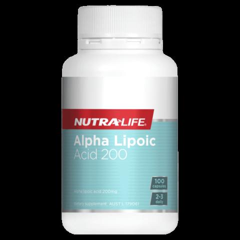 Nutra-Life Alpha Lipoic Acid 200 100 Capsules