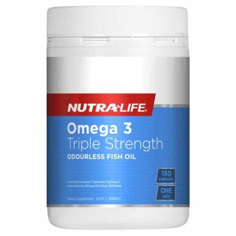 Nutra-Life Omega 3 Triple Strength Odourless Fish Oil 150 Capsules