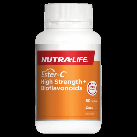 Nutra-Life Ester-C High Strength + Bioflavonoids 60 Tablets