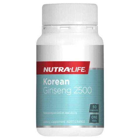 Nutra-Life Korean Ginseng 2500 50 Capsules