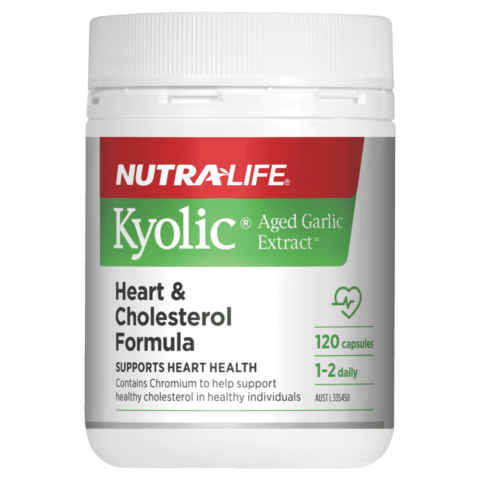 Nutra-Life Kyolic Aged Garlic Extract Heart & Cholesterol Formula 120 Capsules