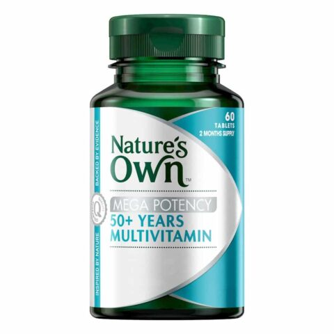 Nature's Own Mega Potency 50+ Years Multivitamin 60 Tablets