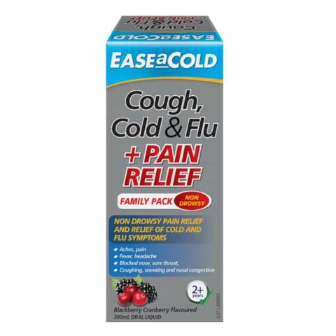 EASEaCOLD Cough Cold & Flu + Pain Relief 200mL