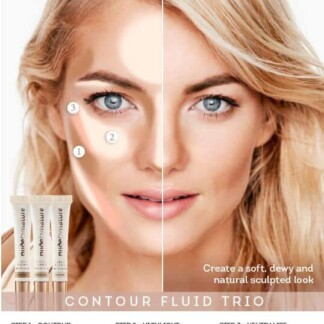 Nude By Nature Contour Fluid Trio 3 X 3.5mL