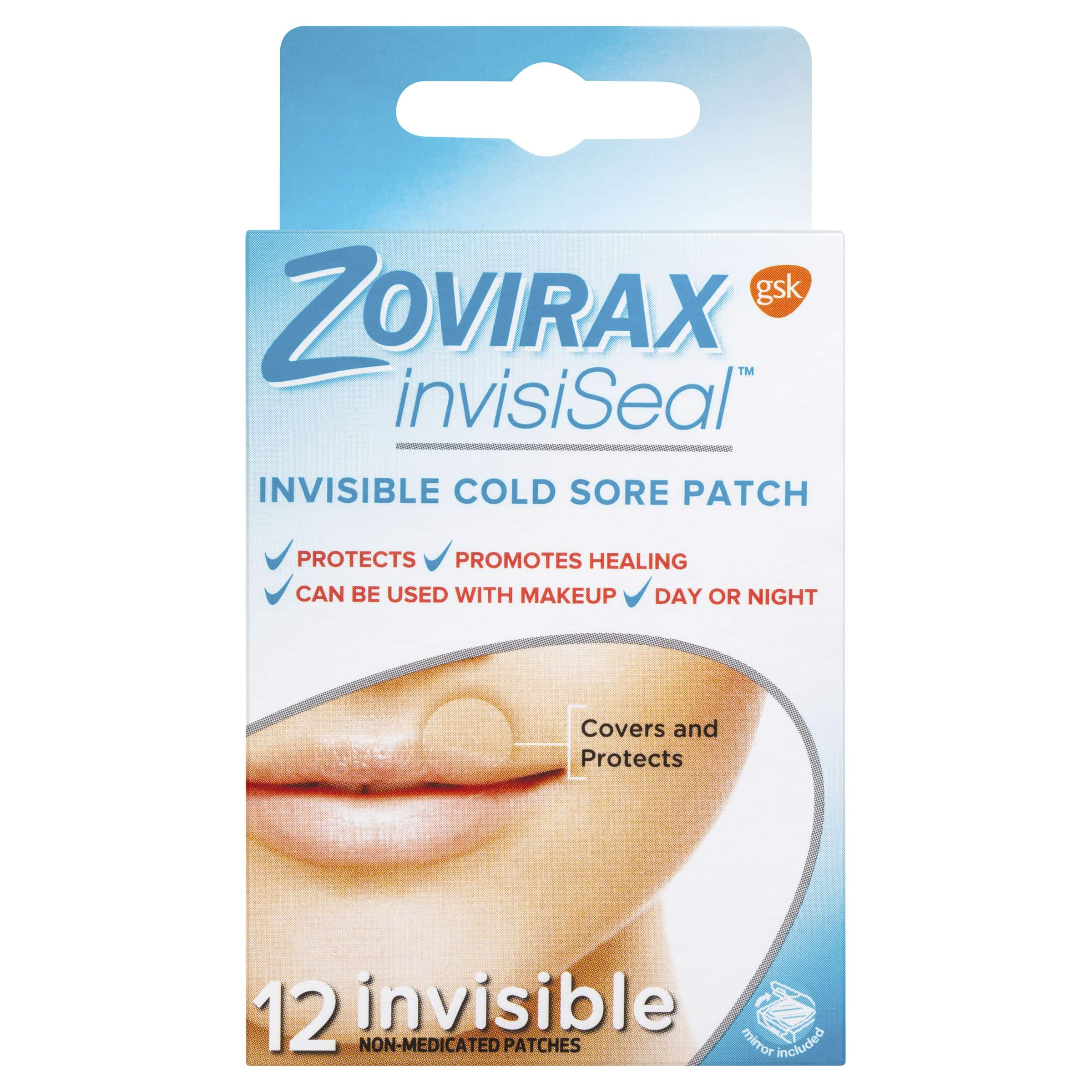 Zovirax InvisiSeal Invisible Cold Sore Patches 12 Pack