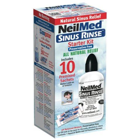 NeilMed Sinus Rinse Starter Kit + 10 Premixed Sachets