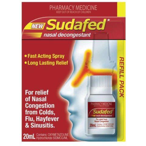 Sudafed Nasal Decongestant Spray Refill 20mL