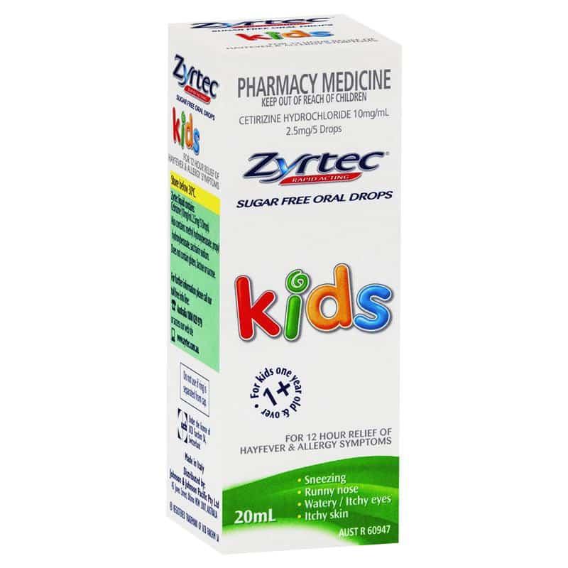 Zyrtec Kids Hayfever & Allergy Relief Oral Drops 20mL