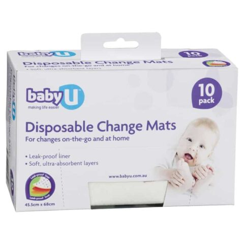 Baby U Disposable Change Mats 10 Pack