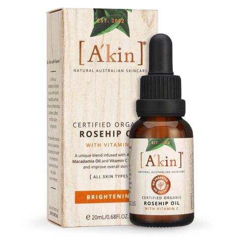 A'kin Brightening Rosehip Oil with Vitamin C 20mL