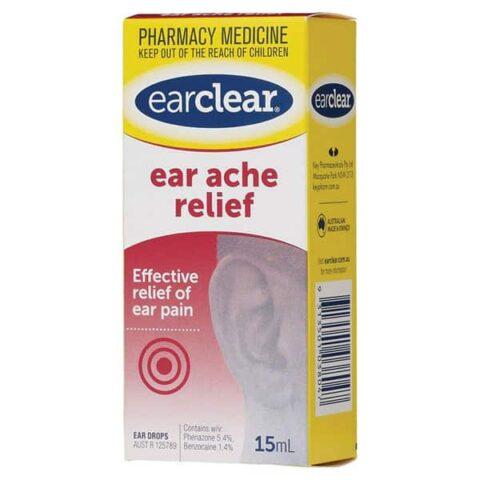 EarClear Ear Ache Relief 15mL Ear Drops