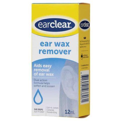 EarClear Ear Wax Remover 12mL Ear Drops