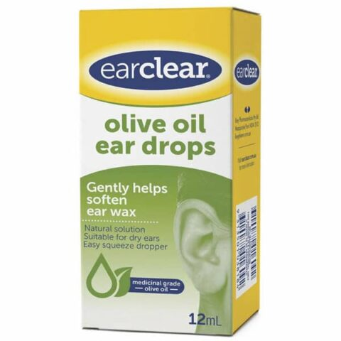 EarClear Olive Oil Ear Drops 12mL