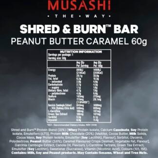 MUSASHI Shred & Burn 12 x 60g Bars