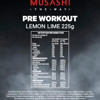 MUSASHI Pre-Workout Blend 225g
