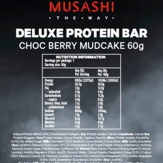MUSASHI Deluxe Protein 12 x 60g Bars