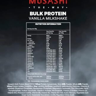 MUSASHI Bulk Protein Powder