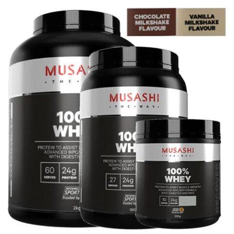 MUSASHI 100% Whey Protein Powder