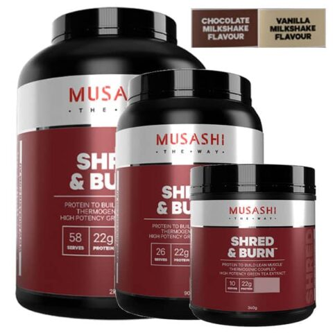 MUSASHI Shred & Burn Protein Powder