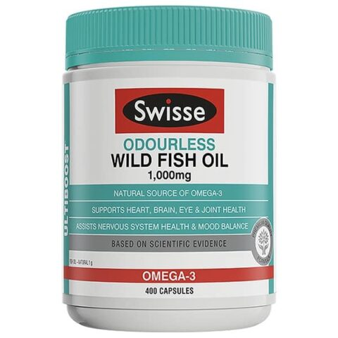 Swisse Ultiboost Odourless Wild Fish Oil 400 Capsules