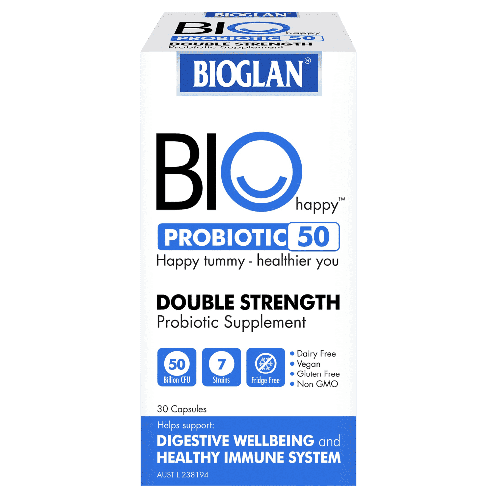 Details zu Bioglan BIOHappy Probiotic 20 Billion 20 Capsules Double  Strength Fridge Free