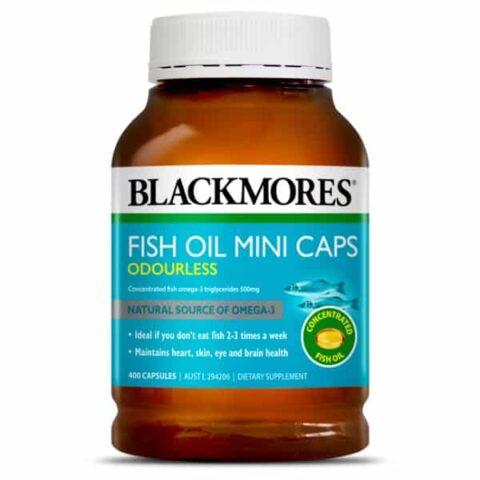 Blackmores Odourless Fish Oil Mini 400 Capsules