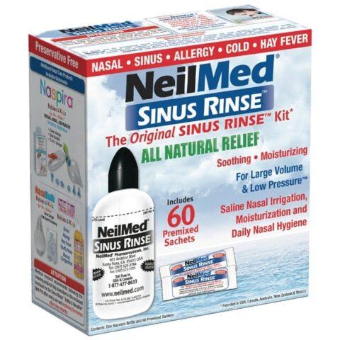 NeilMed Sinus Rinse Kit + 60 Premixed Sachets
