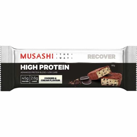 MUSASHI High Protein Bar 90g - Cookies & Cream