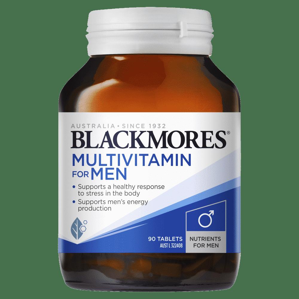 Blackmores Multivitamin for Men 90 Tablets Men's Performance Multi Energy Stress