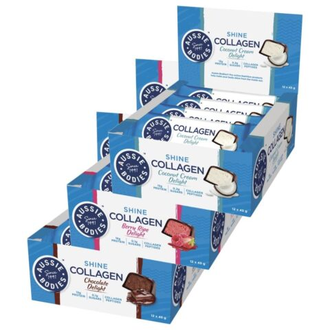 Aussie Bodies Collagen Protein Bars 12 x 45g