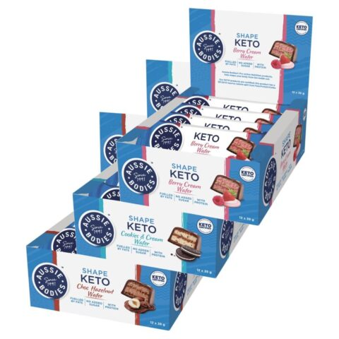 Aussie Bodies Keto Wafer Bars 12 x 35g