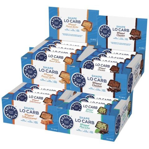 Aussie Bodies Lo Carb Whipped Protein Bars 12 x 50g