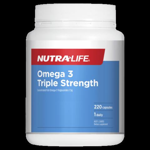 Nutra-Life Omega 3 Triple Strength Odourless Fish Oil 220 Capsules